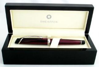 Sheaffer Valor Fountain Pen in Polished Burgundy with Palladium Plate Trim